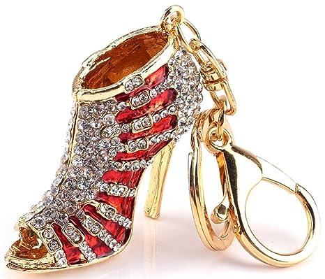 Amazon.com: accuni Llavero Zapato Tacón Alto con cristales ...