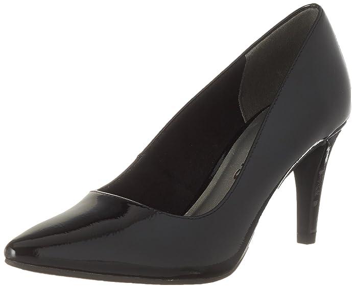 Womens 22447 Closed Toe Heels, Black (Black Patent), 3 UK Tamaris
