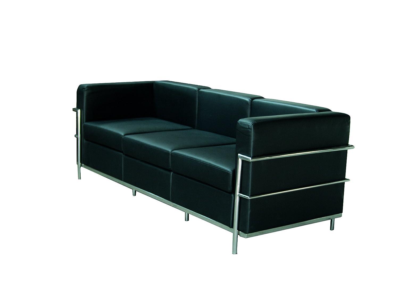 PIQUERAS Y CRESPO Modell Salobre Modulo/erwartet von drei-Sitzer Sofa–Stoffbezug in similpiel Schwarz