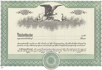 Amazon.com : Duke 2 Stock Certificates (Pack of 25) : Blank ...