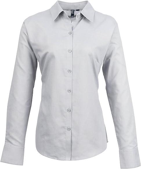 Premier- Camisa de trabajo de manga larga para mujer: Amazon.es: Ropa y accesorios