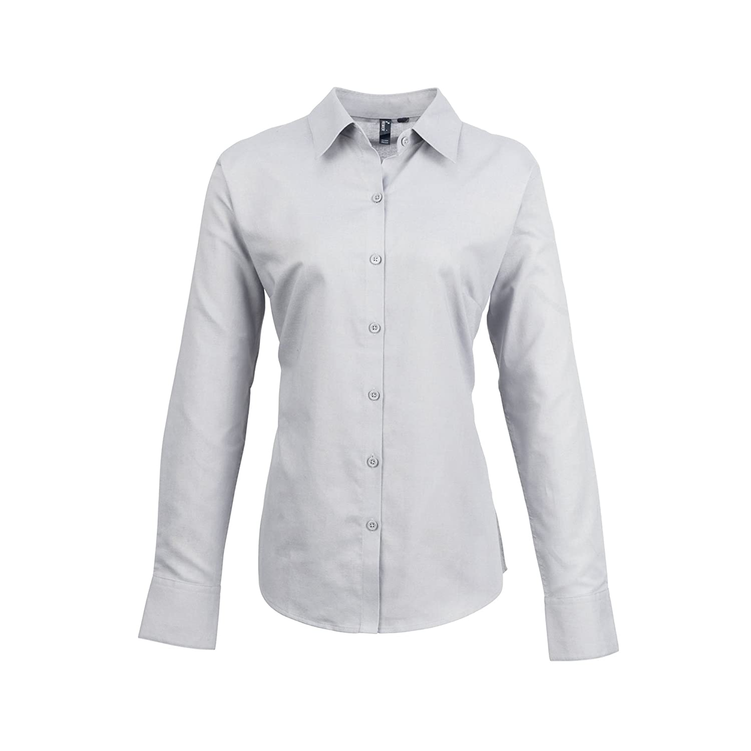 Premier Womens/Ladies Signature Oxford Long Sleeve Work Shirt at ...