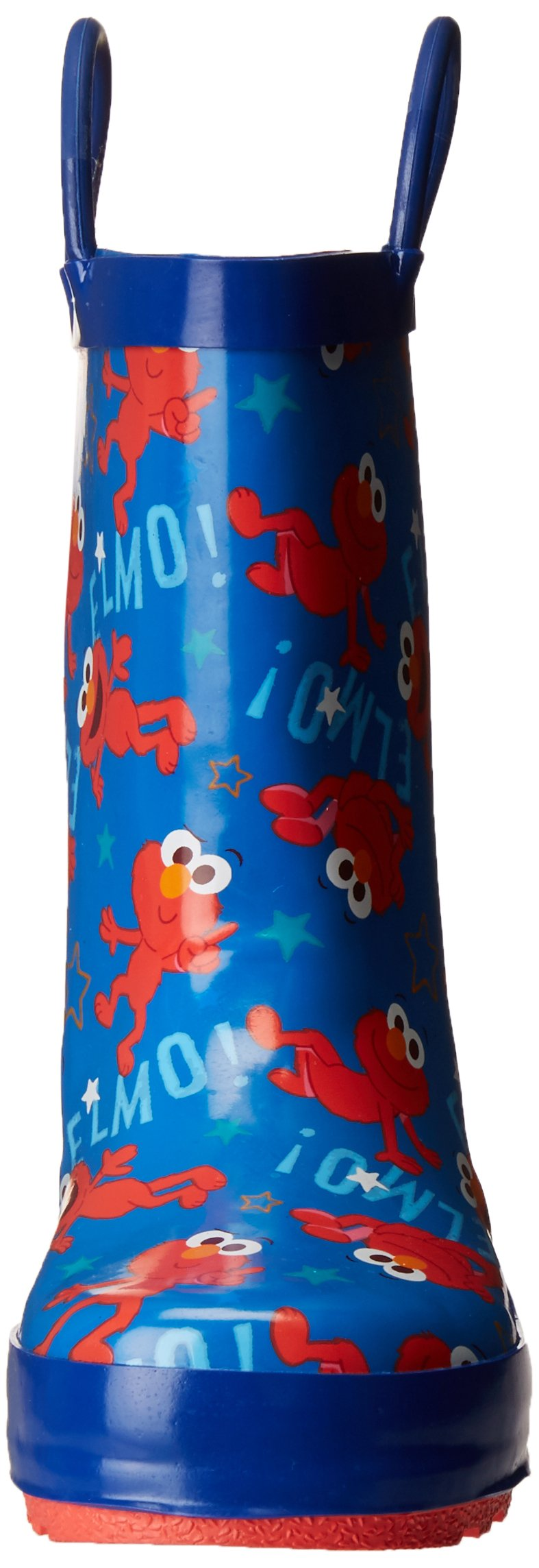 Sesame Street Boys' Kid's Character Licensed Rain Boot, Blue, Dual Shoe Size 7/8 Child US Toddler by Sesame Street (Image #4)