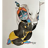 Tallenge - Baby Krishna Paintings Collection - Muralidhar Krishna - Premium Quality Poster (12 x 17 inches)