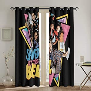 Saved by The Bell Blackout Curtains for The Bedroom and Living Room to Darken The Hot Grommet Curtain 52x84 Inches