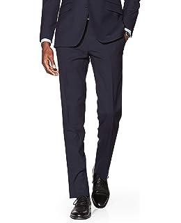 cde48bb5d1ef T.M.Lewin Men's Leo Classic Navy Slim Fit Italian Infinity Active Suit  Trousers