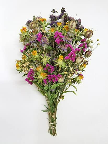 Happy Birthday Fall Bouquet Of Dried Flowers Bunch Of Autumn Dried Flowers For Fall Floral Decorating Vase Arrangements Amazon Co Uk Kitchen Home