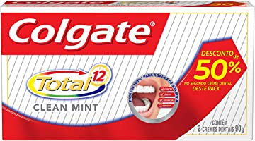 Colgate Creme Dental Total 12 Clean Mint, Branco