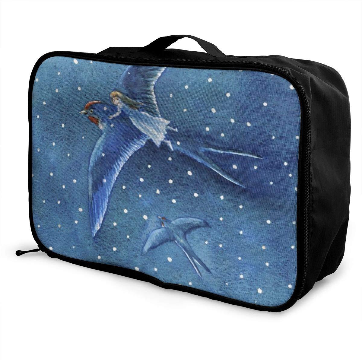 Bird Travel Duffel Bag Waterproof Fashion Unisex Lightweight Large Capacity Portable Luggage Bag for Women Men
