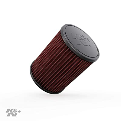 K&N Universal Clamp-On Air Filter: High Performance, Premium, Washable, Replacement Engine Filter: Flange Diameter: 3 In, Filter Height: 6.5 In, Flange Length: 0.625 In, Shape: Round, RU-2820: Automotive