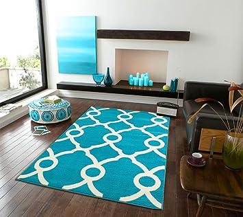 Amazon Modern Rugs Moroccan Trellis Area Rug 8x10 Carpet Sky