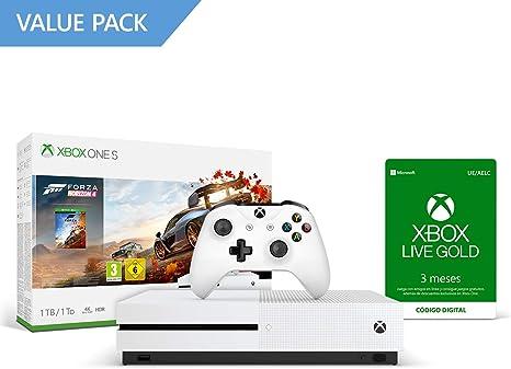 Microsoft Xbox One S - Consola 1 TB + Forza Horizon 4 + 3 Meses De ...