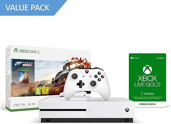 Microsoft Xbox One S - Consola 1 TB + Forza Horizon 4 + 3 Meses De Xbox Live Gold: Amazon.es: Videojuegos