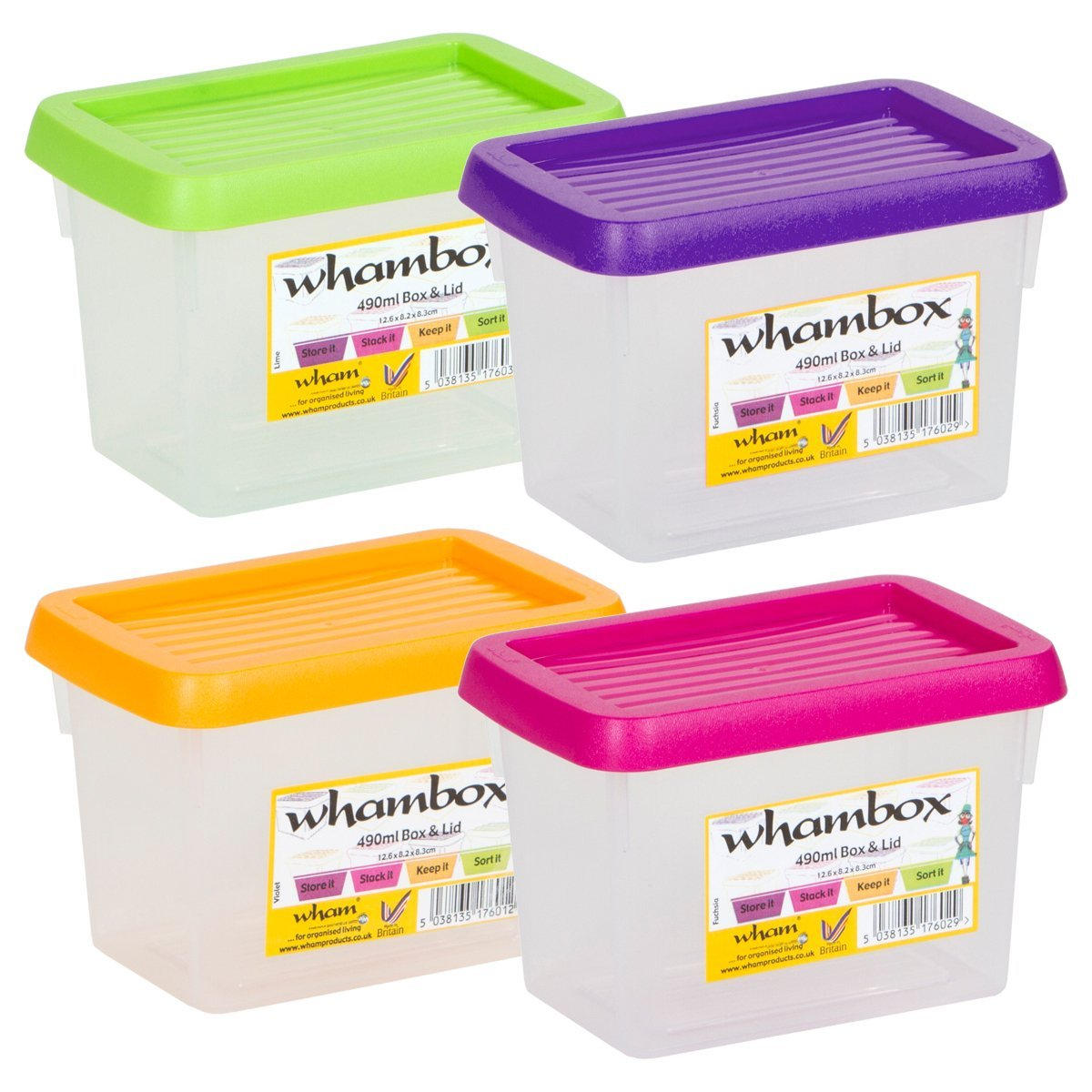Wham Box Amp Lid Small Handy Storage Plastic Containers