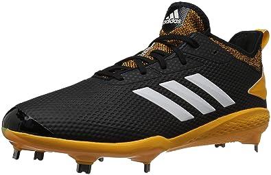 1b015c58a2a5 adidas Men's Adizero Afterburner V Baseball Shoe, Black/Cloud  White/Collegiate Gold,