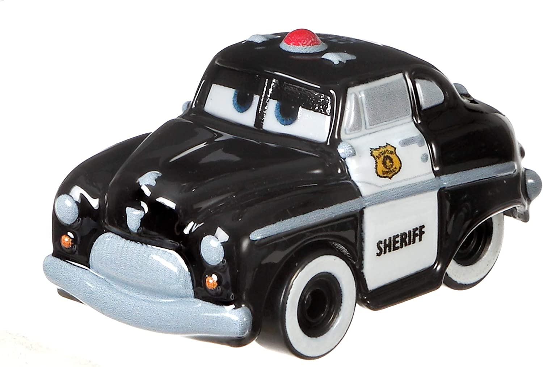 DISNEY PIXAR CARS MINI RACERS OFFICER LIGHTNING MCQUEEN SHERIFF 3 PACK SAVE 6/%