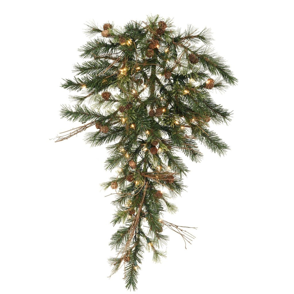 Vickerman 36'' Mixed Country Pine Teardrop with 50 Clear lights