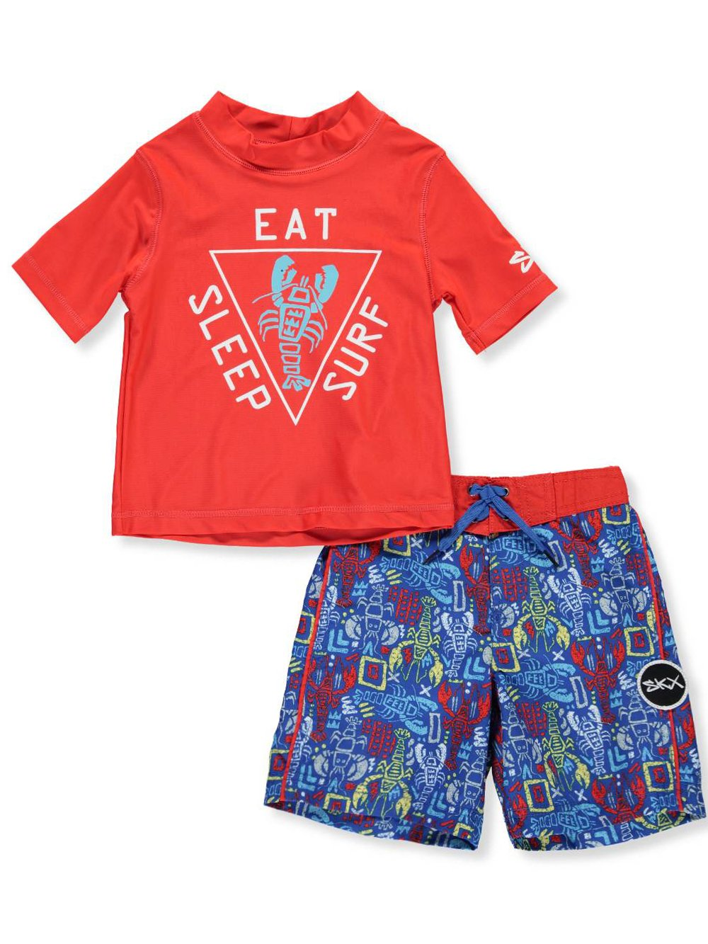 Skechers Boys Suit Set with Rashgaurd Swim Shirt