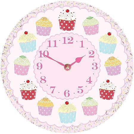cupcake clock by cute clocks amazon co uk kitchen home
