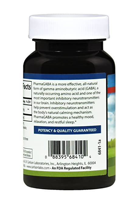 Amazon.com: Carlson Labs Pharma Gaba Cápsulas, 1, 1: Health ...