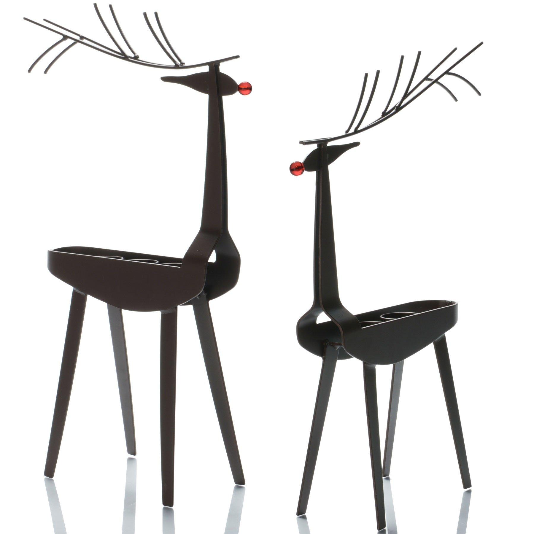 tag Christmas Reindeer 3 Tealight Holder