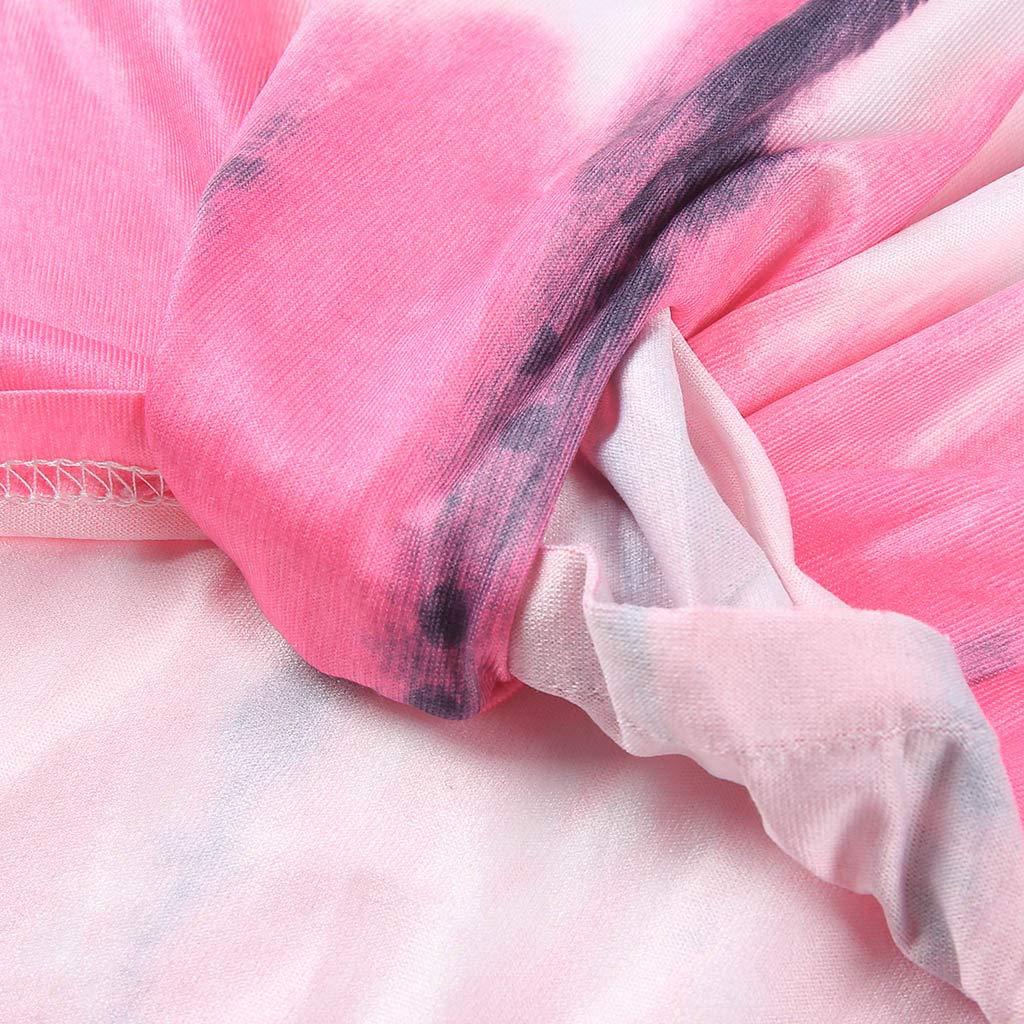 HighlifeS/_Women Tank Top,Casual Striped Printed O-Neck Sleeveless Vest Tank Knot Hem Loose Blouse