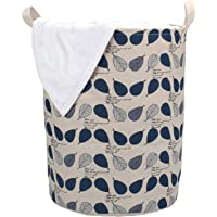 HOKIPO® Folding Laundry Basket for Clothes, Round Collapsible Storage Basket, 42-LTR