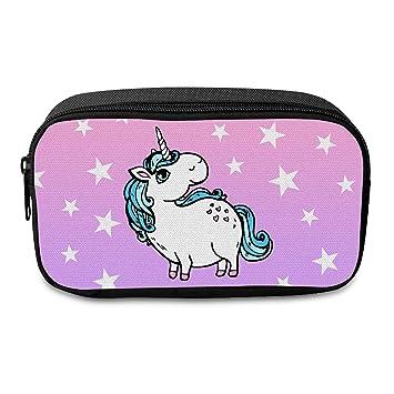 Fringoo®- Estuche grande de unicornio para niños. , color Unicorn Stars - Front Large: Amazon.es: Oficina y papelería