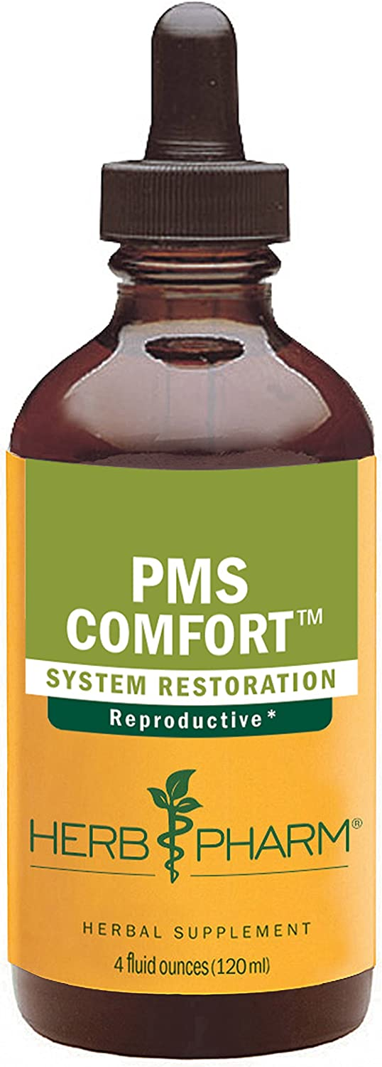 Herb Pharm PMS Comfort Liquid Herbal Formula for Support During Premenstrual Syndrome – 4 Ounce