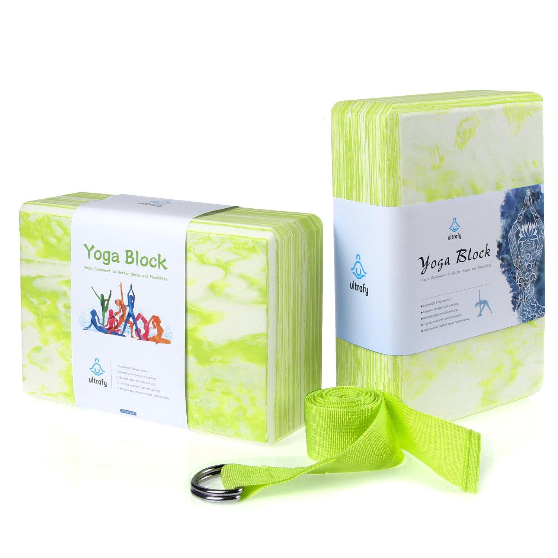 ultrafy Yoga bloques ladrillos (3 × 6 × 9 (, 2 Pack) luz no ...