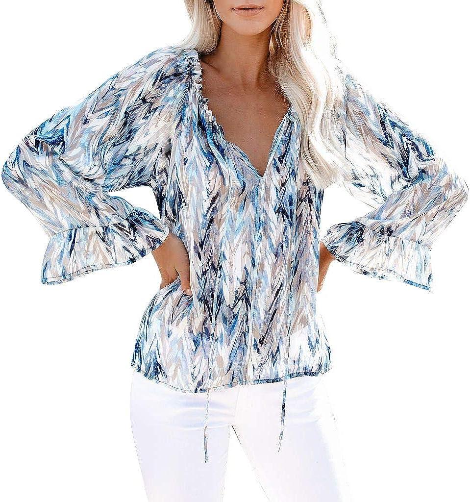 Lady Off Shoulder Shirts Neon Blouse Lolita Sheer Puff Sleeve Flared Elegant Top