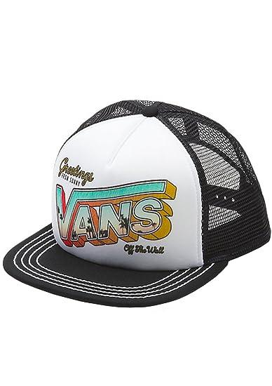 85937fbd6 Vans Off The Wall Women's Lawn Party Trucker Hat Cap - Black/White ...