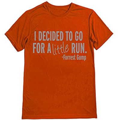 Dry Sports Shirt – Men Runner's T-Shirts - Running Quotes -I DECIDED TO GO FOR A LITTLE RUN - FORREST GUMP