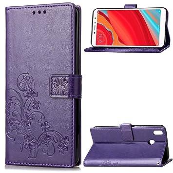 Funda Xiaomi Redmi S2, LAGUI Los Adornos Bien Definidos y Grabados Carcasa Tipo Libro, de ranuras para tarjetas y soporte horizontal y solapa con ...