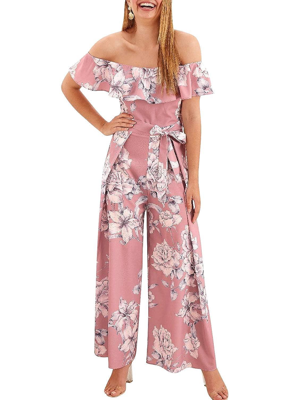 Amazon.com: Fashiomo - Mono con estampado floral para mujer ...