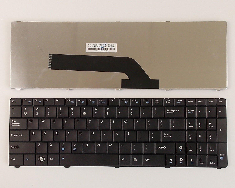 Looleking Laptop Keyboard for Asus K50 K50A K50C K50I K50AB K50IJ K50AD K50AF P50 P50IJ K51 K51AE K51AB K51AC K51A K51IO US Layout Black Color