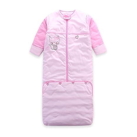 Lat invierno grosor saco de dormir Saco de dormir largo mangas extraíbles, 0 – 5