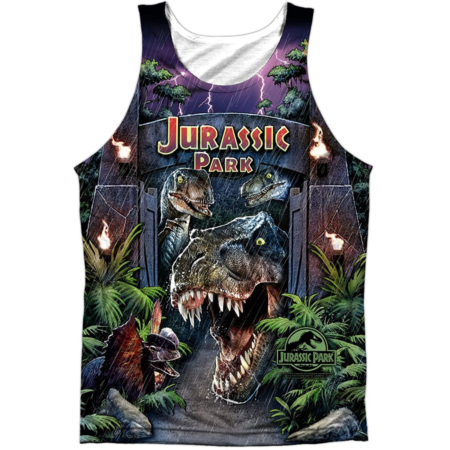 Jurassic Park 1993 Sci-Fi Thriller Movie Welcome Front Print Tank Top Shirt