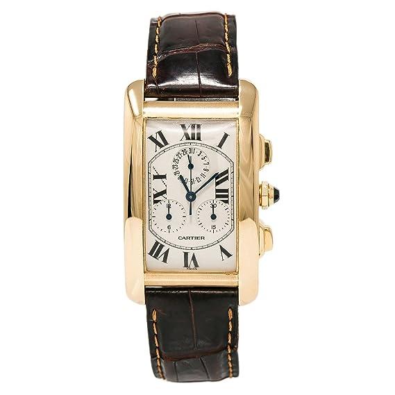 Cartier Tank Americaine Cuarzo Mens Reloj 1730 (Certificado) de Segunda Mano: Cartier: Amazon.es: Relojes