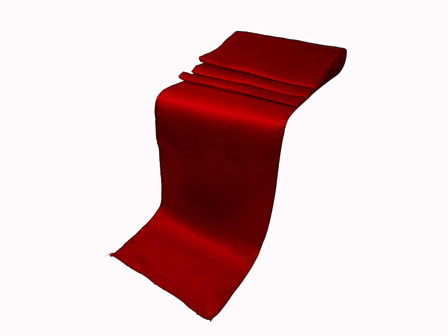 Elina Home 12 x 108 Inch Satin Table Runner Party Supplies Fabric Christmas Decorations Wedding Birthday Baby Shower (Pack 1, Apple RED)