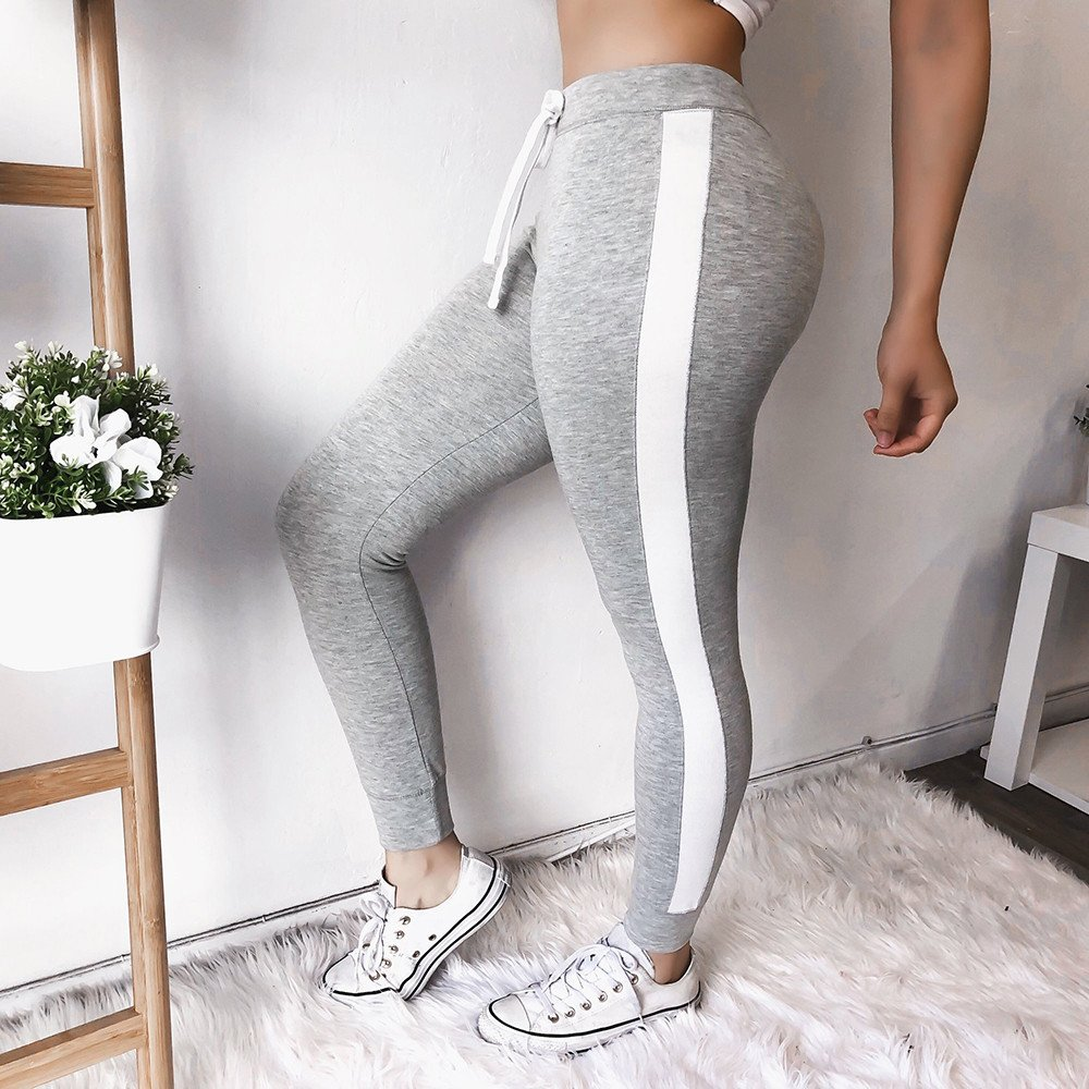 e19d5d8cfe89 FarJing Yoga Pants for Womens,Clearance Sale Women Striped Drawstring Pants  Women Bowtie Sports Casual