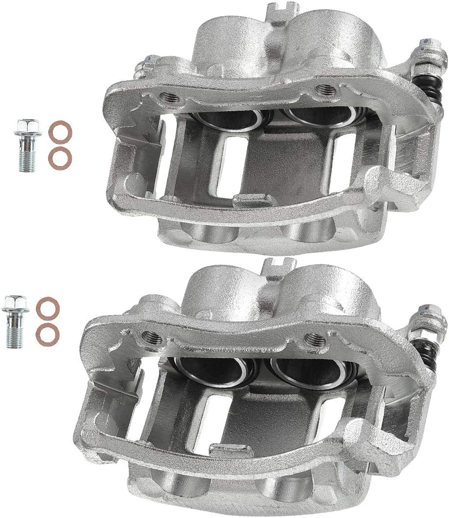 Set of 2 Front Driver and Passenger Side Brake Caliper Assembly Replacement for Nissan Xterra 2000-2004 Frontier 2003-2004