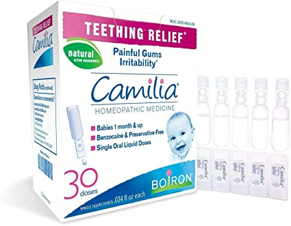 Camilia, 30 Dosis, Medicina Homeopatica para El Alivio De La Denticion