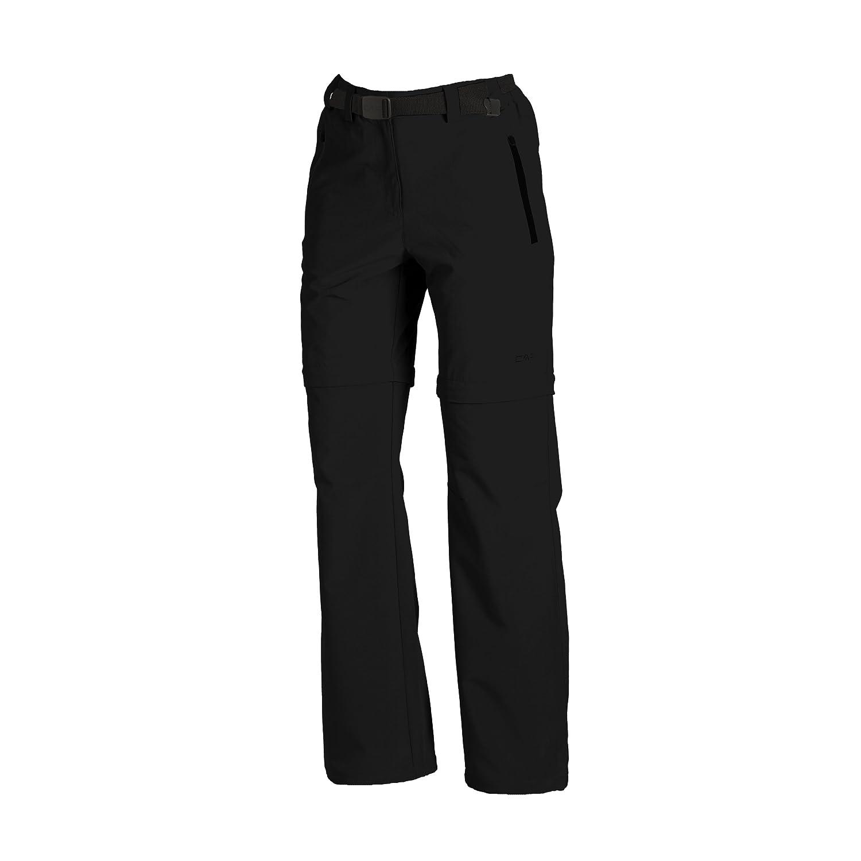 CMP - Pantalones con cremallera para mujer negro Negro Talla:D40