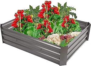 縦断勾配 Garden Raised Planting Bed Elevated Standing Planter Raised Garden Bed Outdoor Iron Planting Open Bottom Galvanized Sheet Flowerbed for Courtyards Parks Landscape Use