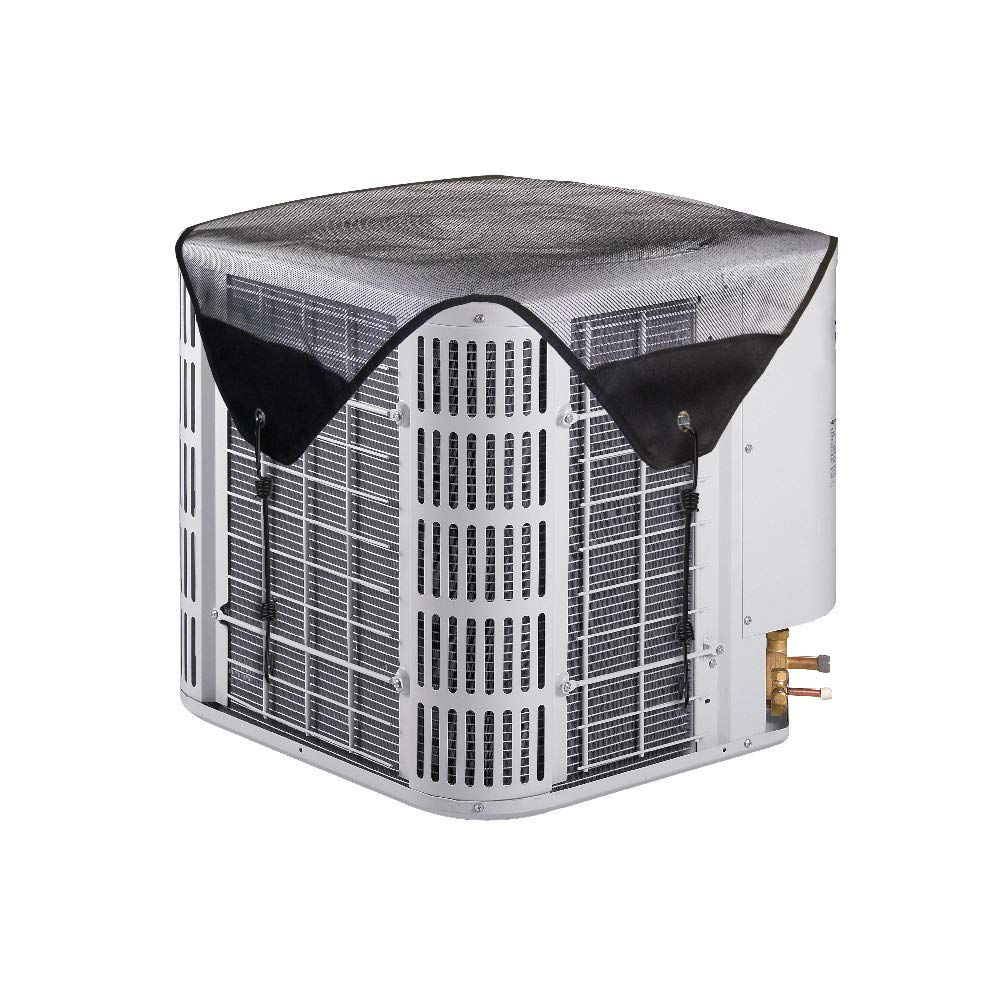 LBG Outdoor Central Air Conditiner Cover,Mesh Design top AC Defender for Outside Units, Fits Most Standard American AC Condenser Unit (28''× 28'') Fits Most Standard American AC Condenser Unit (28' ' × 28' ' ) AC Parts Limited