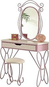 ACME Furniture Priya II Vanity Set, White & Light Purple