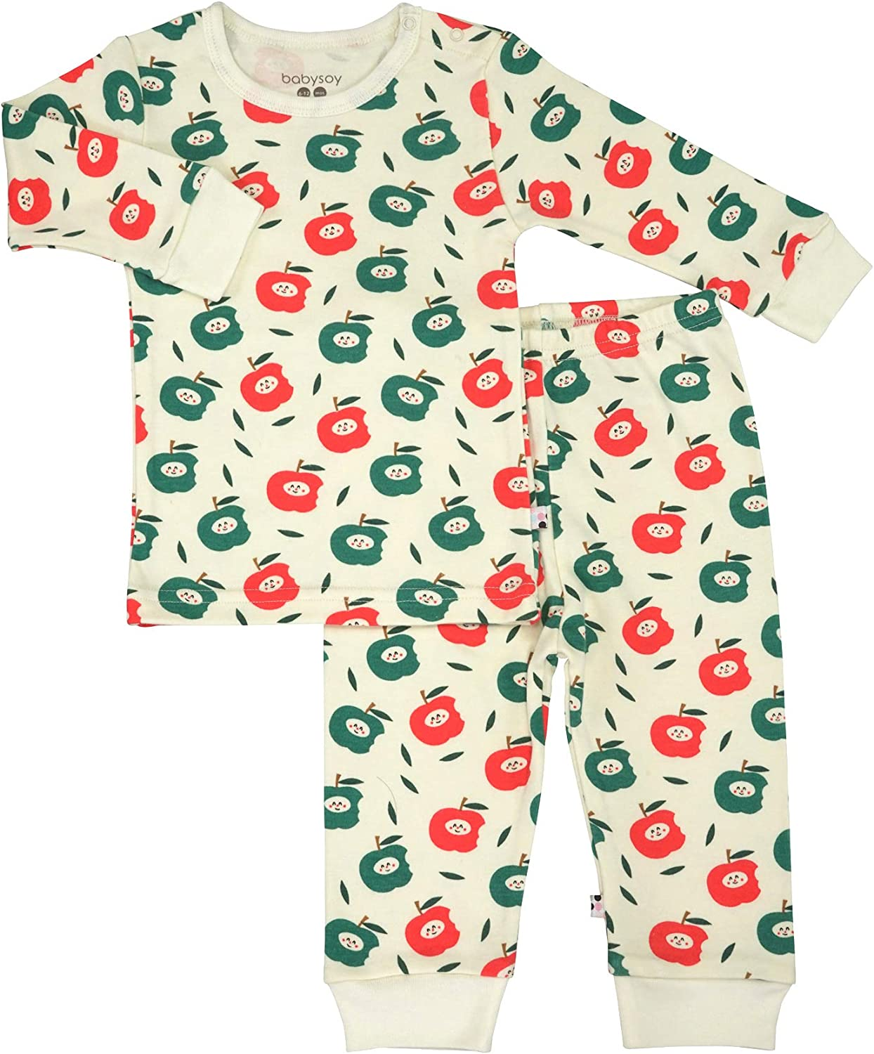 Babysoy Long Sleeve Unisex Lounge Set - Organic 2-Piece PJ Playwear Sets for Baby and Toddler
