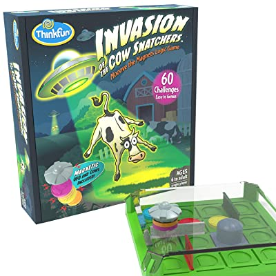 Think Fun Invasion of The Cow Snatchers STEM Toy and Logic Game for Boys and Girls Age 6 and Up - A Magnet Maze Logic Puzzle: Toys & Games