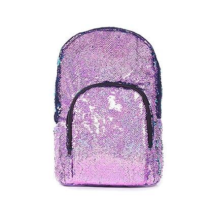 Layopo Flip Sequin Backpack, Glitter Reversible Sequins Backpack, Durable Sequence Backpack for Girls,